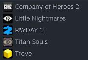 Steam 5 oyunlu hesap oyunlar toplam 84 TL