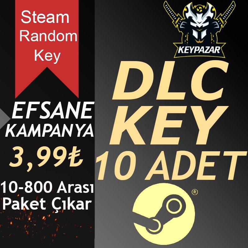 Steam Random Key DLC 10 ADET 10-900TL Paket