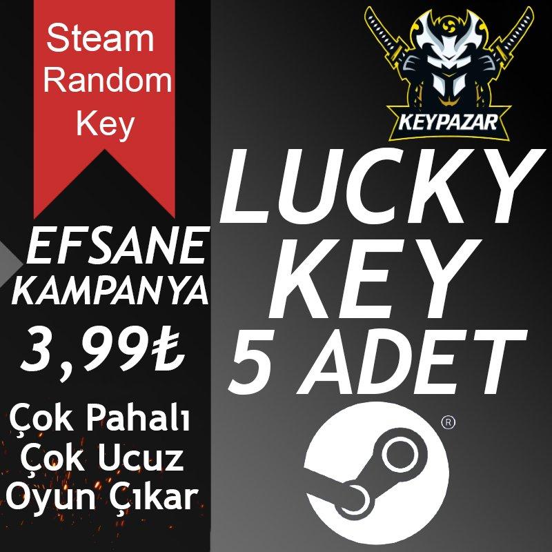 Steam Random Key LUCKY 5 ADET (Rastgele Oyun)