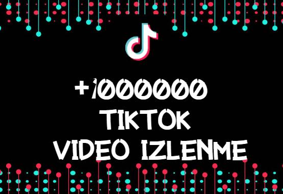 TikTok +1000000 İzlenme | HIZLI GÖNDERİM-ANLIK