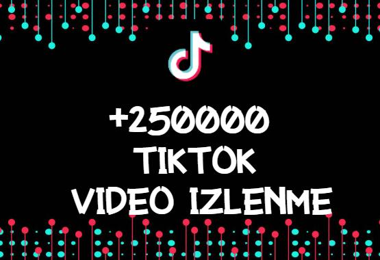 TikTok +250000 İzlenme | HIZLI GÖNDERİM - ANLIK