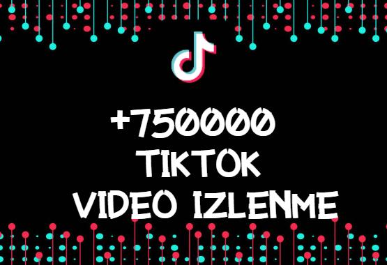 TikTok +750000 İzlenme | HIZLI GÖNDERİM - ANLIK