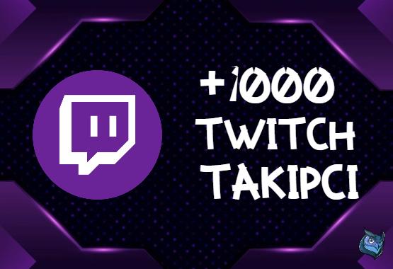 Twitch +1000 Takipçi | HIZLI GÖNDERİM - ANLIK