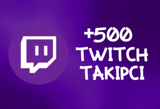 Twitch +500 Takipçi   HIZLI GÖNDERİM - ANLIK
