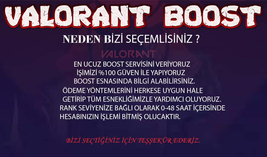 VALORANT BOOST