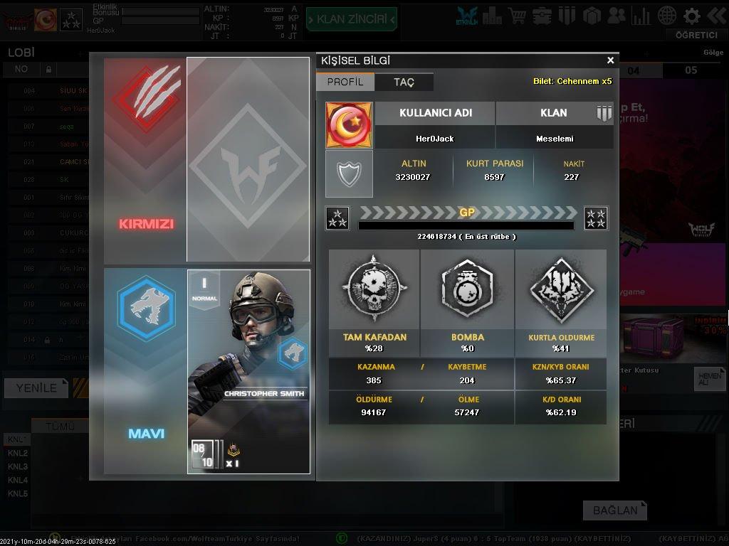 Wolfteam 3 Yıldız Hotmailli Hesap