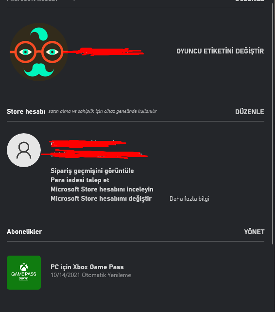 xbox game pass buglı hesap aylık 10 tl