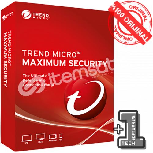Trend Micro Maximum Securıty 3 PC 1 YIL (2021)