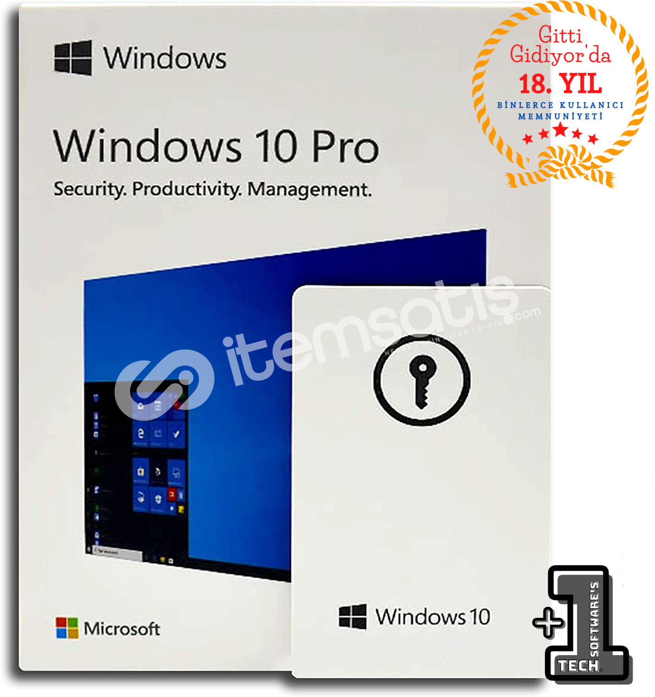 Windows 10 PRO Dijital Ürün Lisans Anahtarı 32&64 Bit