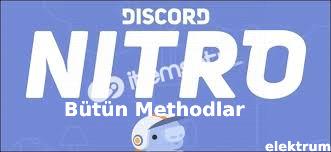 Piyasada ki Bütün Discord Nitro Methodları %100 Çalışıyor