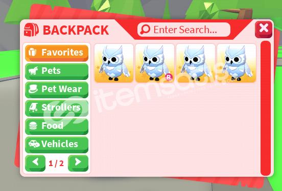 Adopt Me 4 Snow Owl