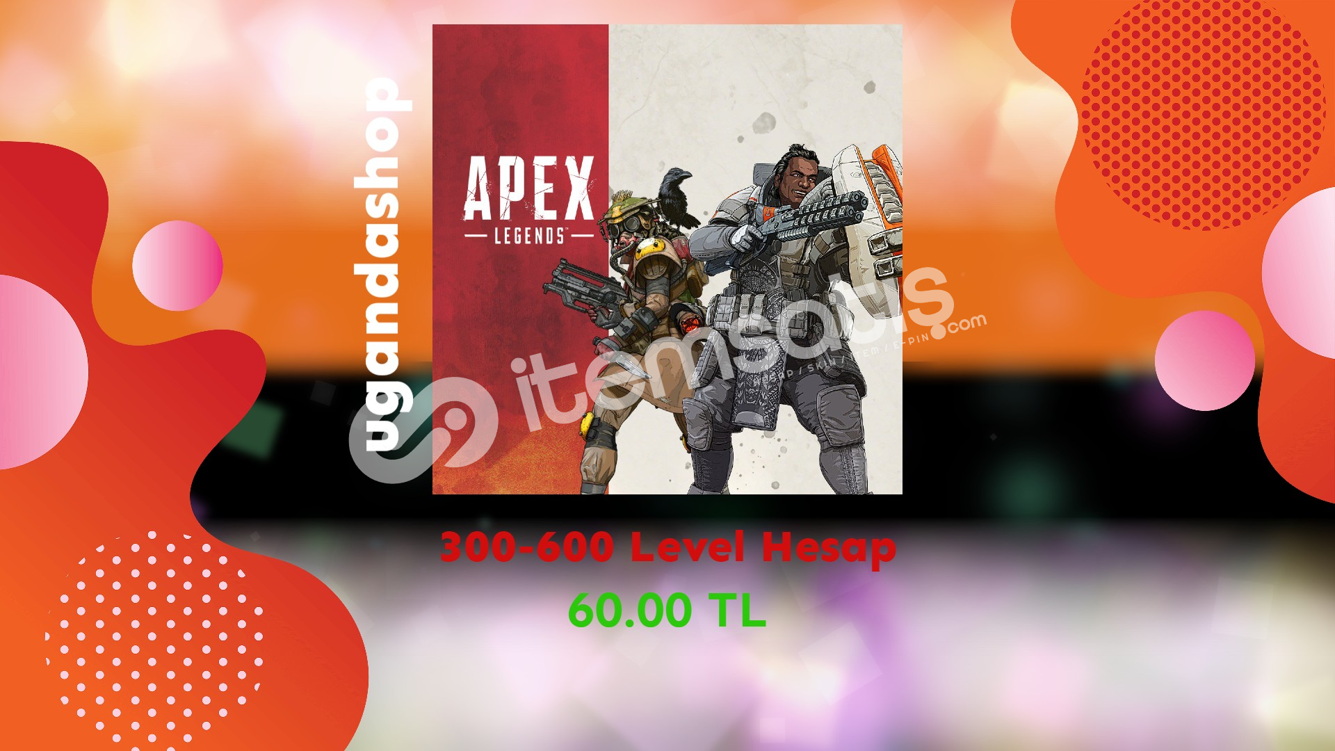 Apex Legends 300-600 Level Hesap + Garanti