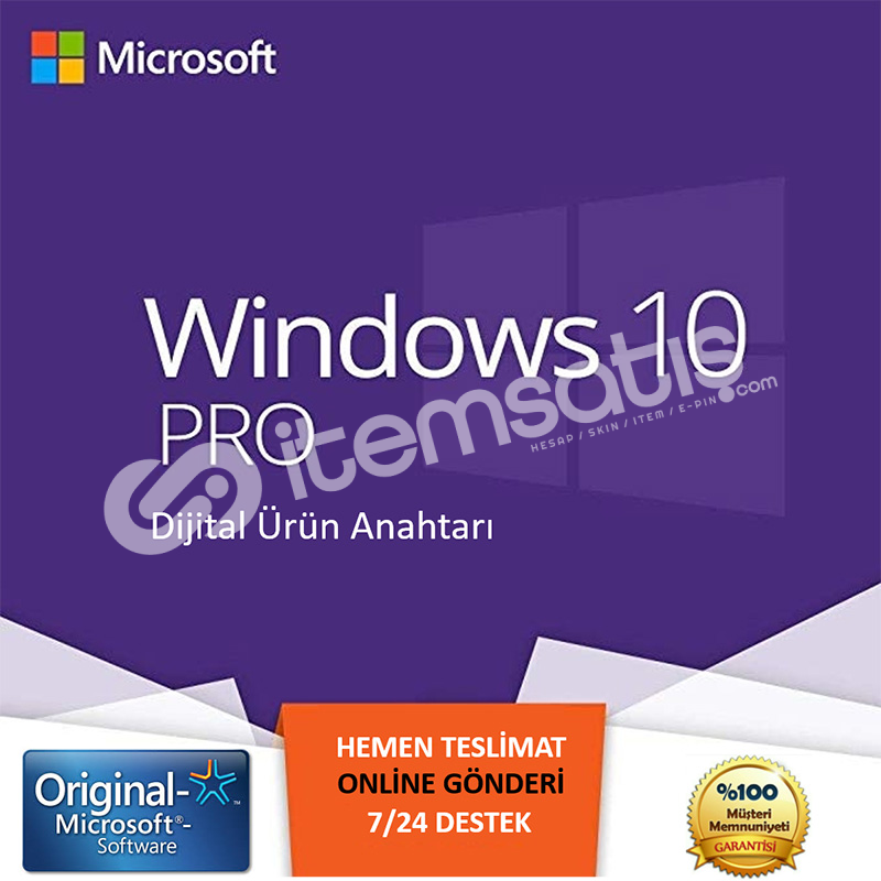 Windows 10 Pro Retail Lisans Anahtarı - Key