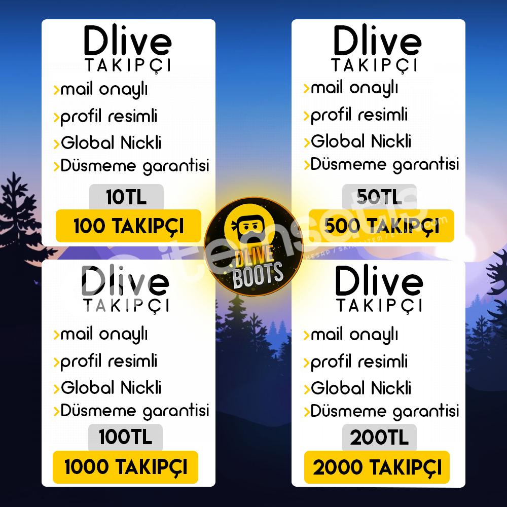 Dlive 1.250 Takipçi ( Orjinal Onaylı Hesaplar )