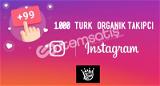 1.000 TÜRK ORGANİK TAKİPÇİ