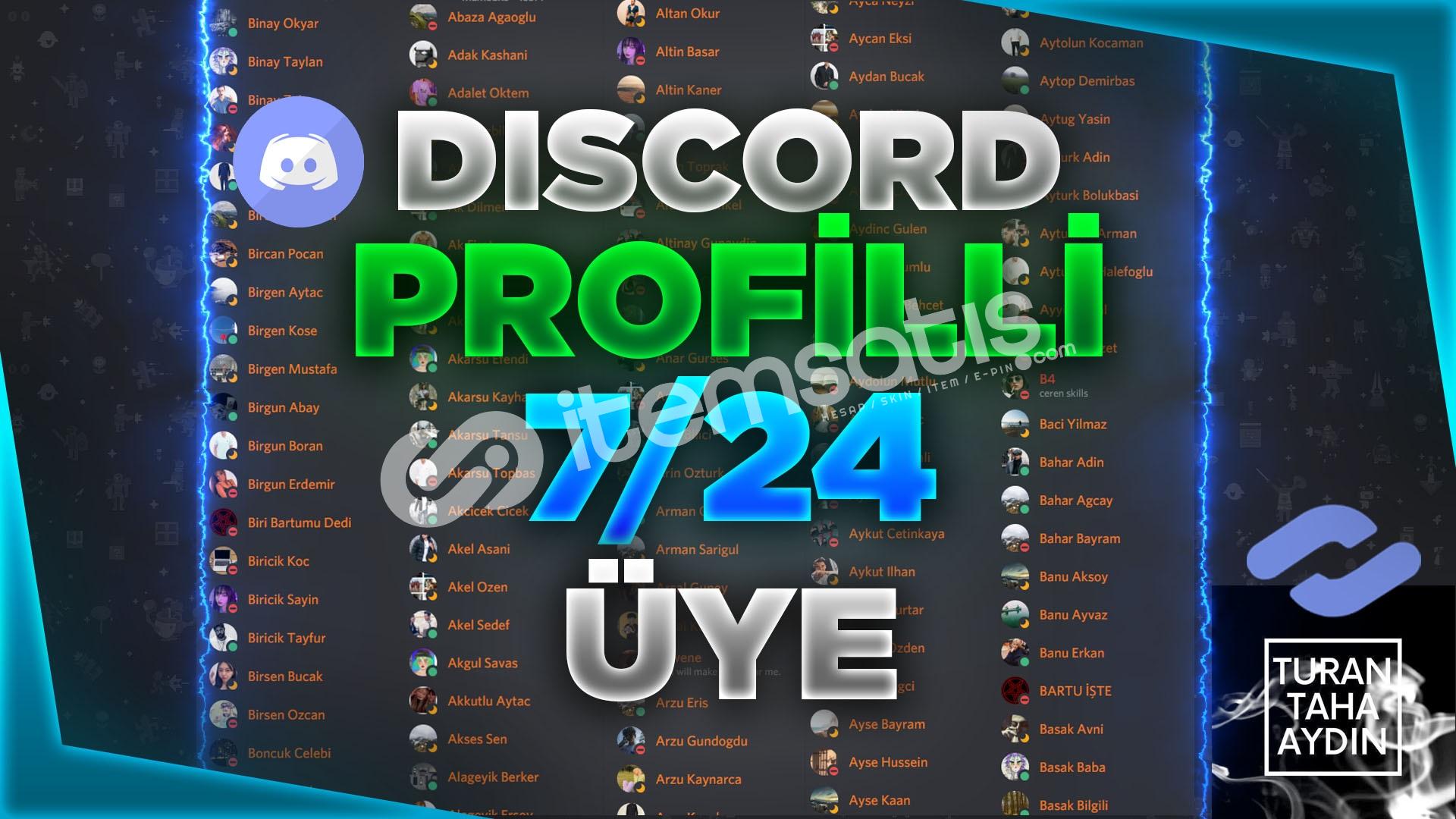 !Hepsi Profil Fotoğraflı Discord 300 Adet 7/24 Çevrimiçi Üye
