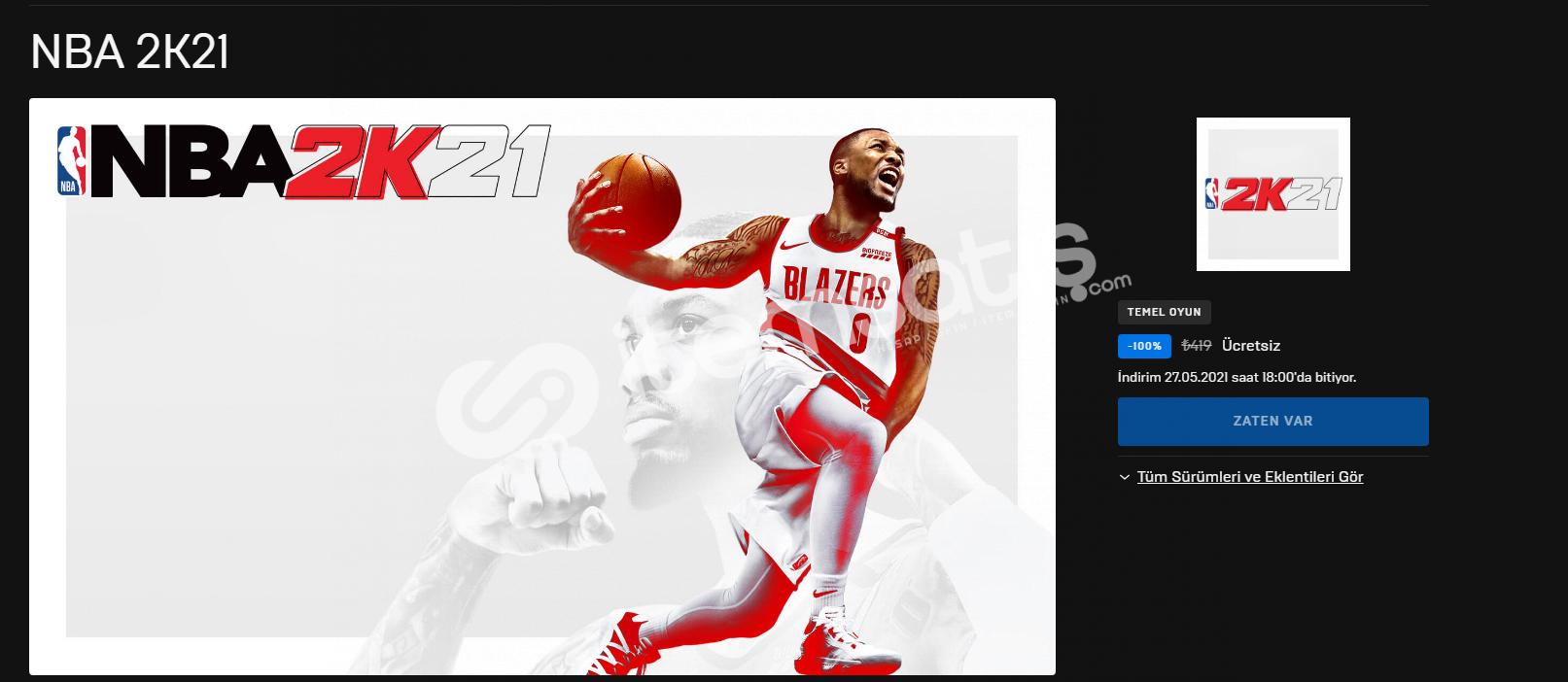 NBA2K21 HESAP