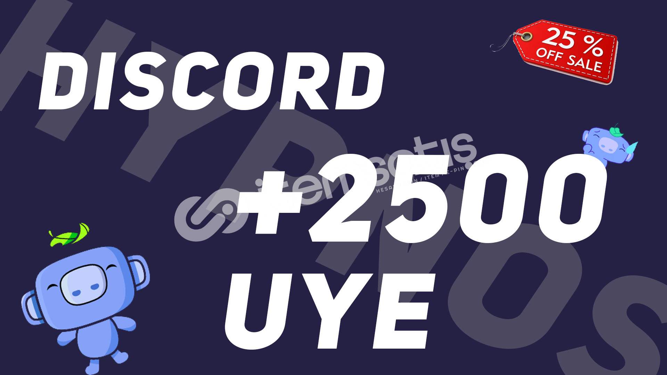 Discord 2500 Üye | Profilli Aktif 2500 Üye