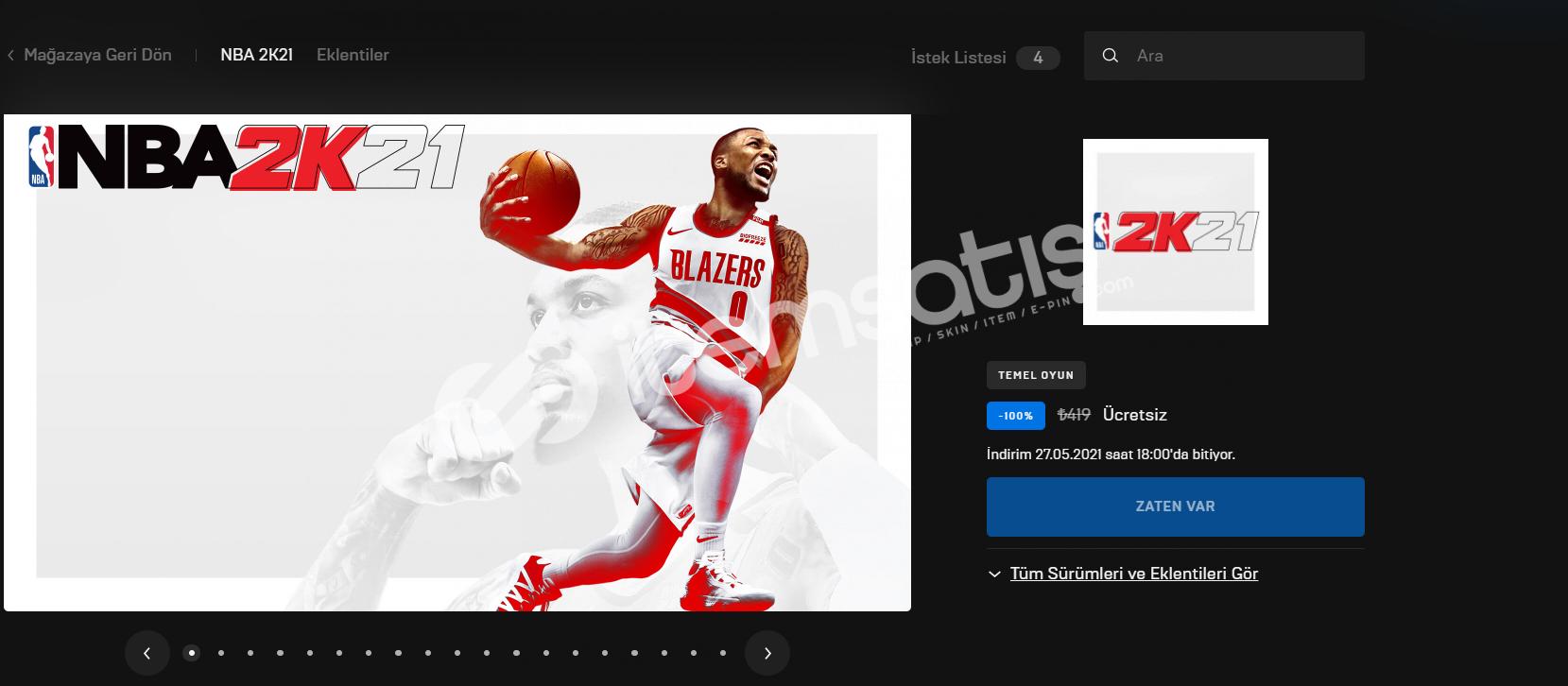NBA2K21 EPİC GAMES