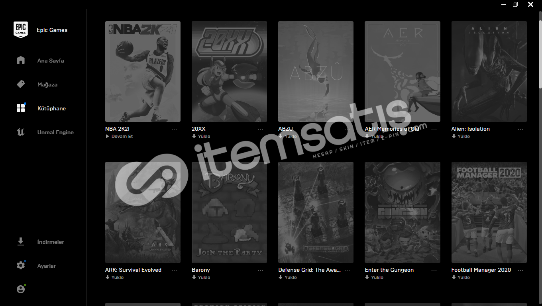 GTA V premium + 39 oyunlu epic hesabı
