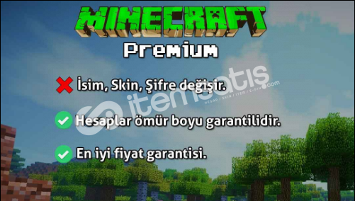 MİNECRAFT PREMİUM HESAP (Ömür boyu garantilidir.)