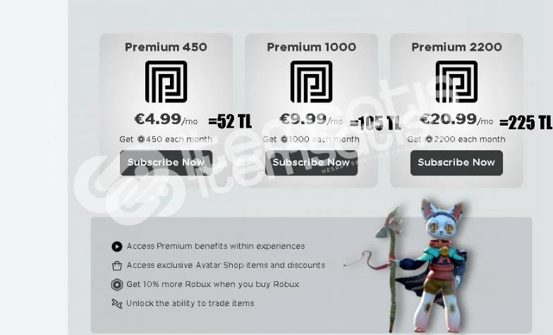 Roblox 1000 robux +premıum Çok ucuz fiyata