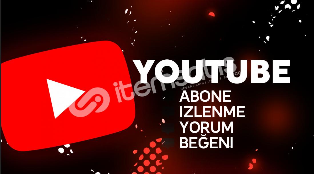 Youtube abone , yorum , izlenme , beğeni
