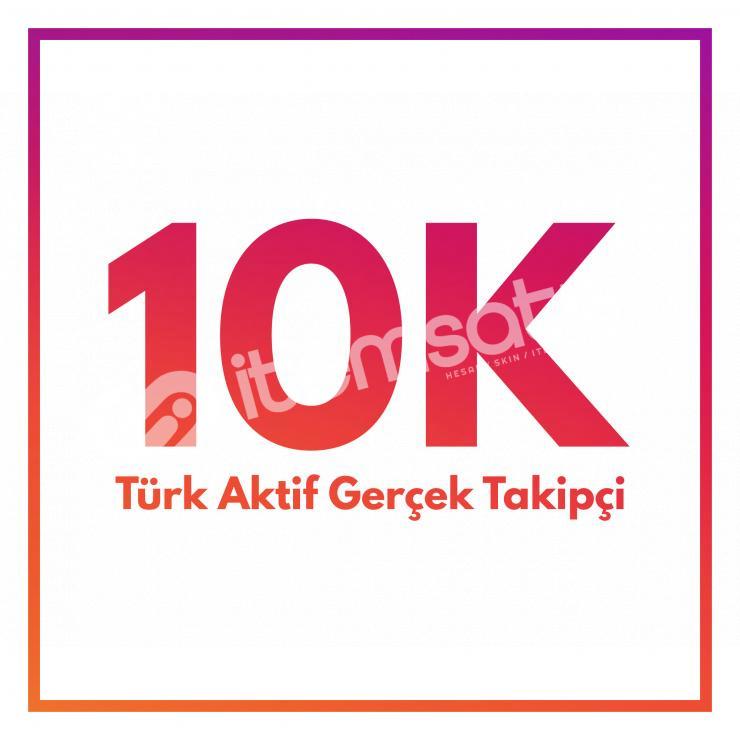 Instagram 10.000 Adet Gerçek Takipçi | 30 Gün Garanti-Telafi