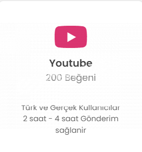Youtube 200 Like Düşmelere Karşı Telafi!