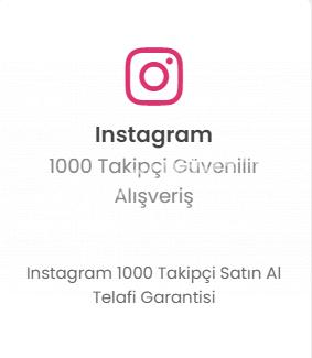 Instagram 1000 Takipçi 29TL Düşmelere Karşı Telafi!