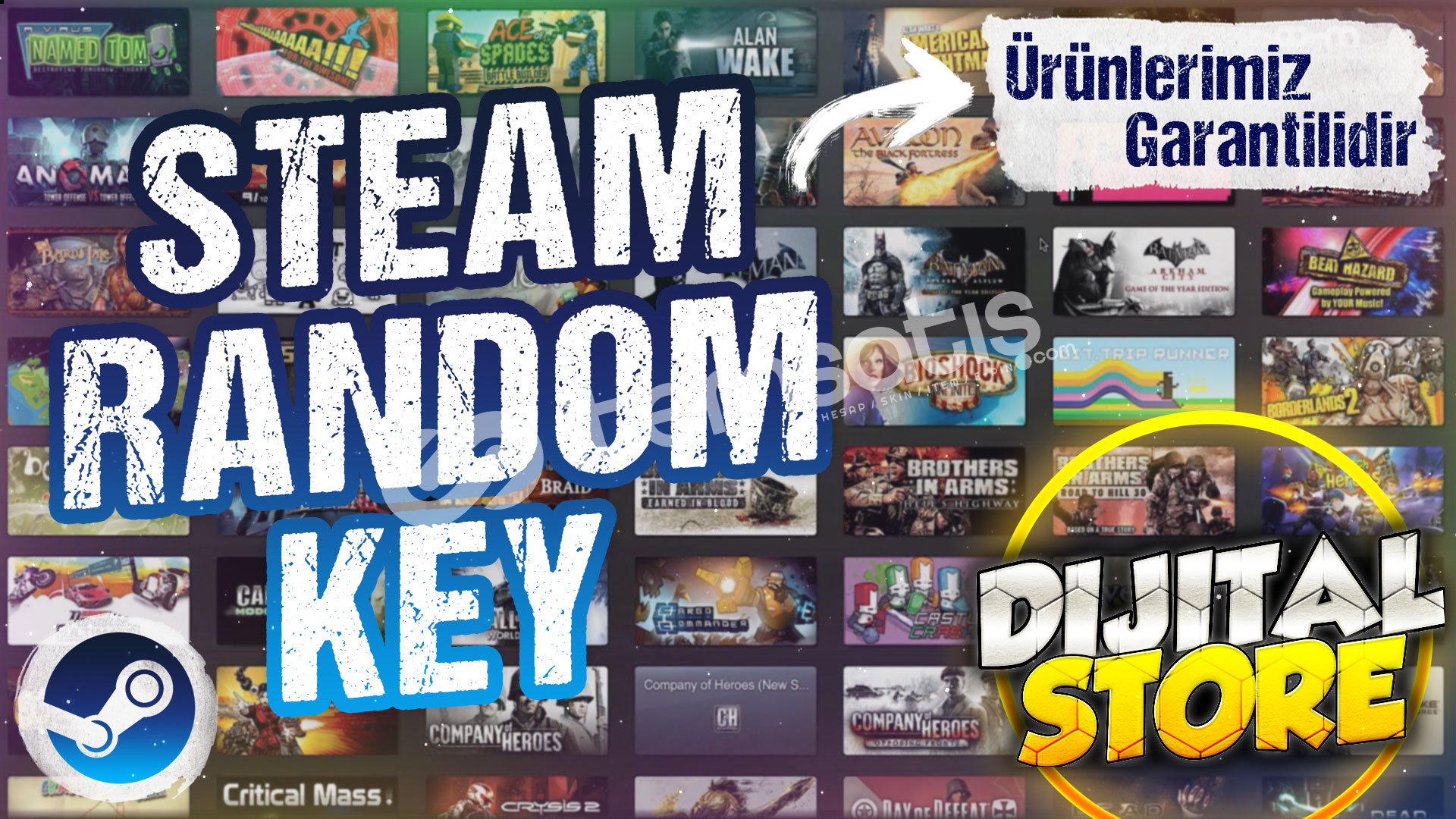 +18TL Ve Üzeri Steam Random Key