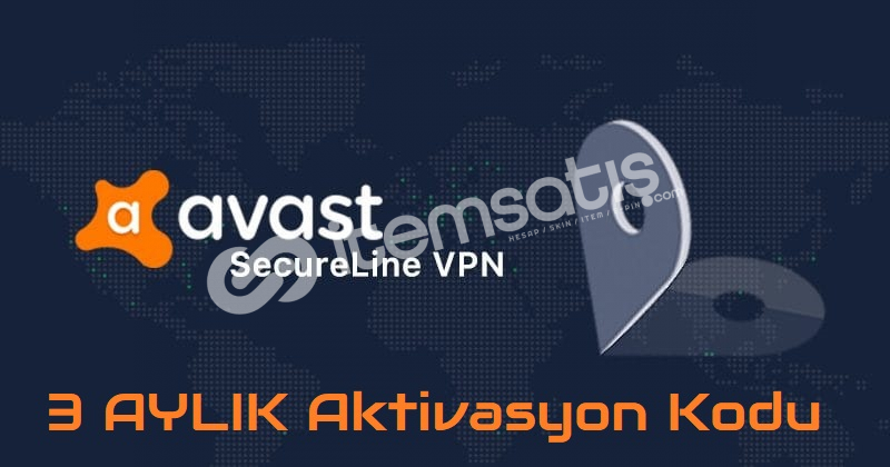 Avast SecureLine VPN PC - 3 AYLIK Aktivasyon Kodu