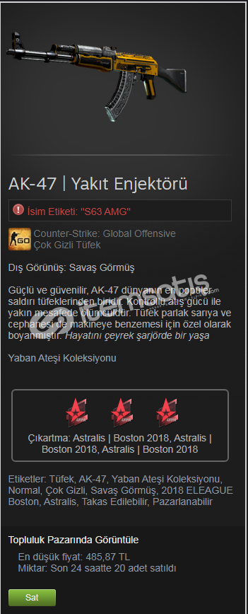 AK-47 | Yakıt Enjektörü (Savaş Görmüş)
