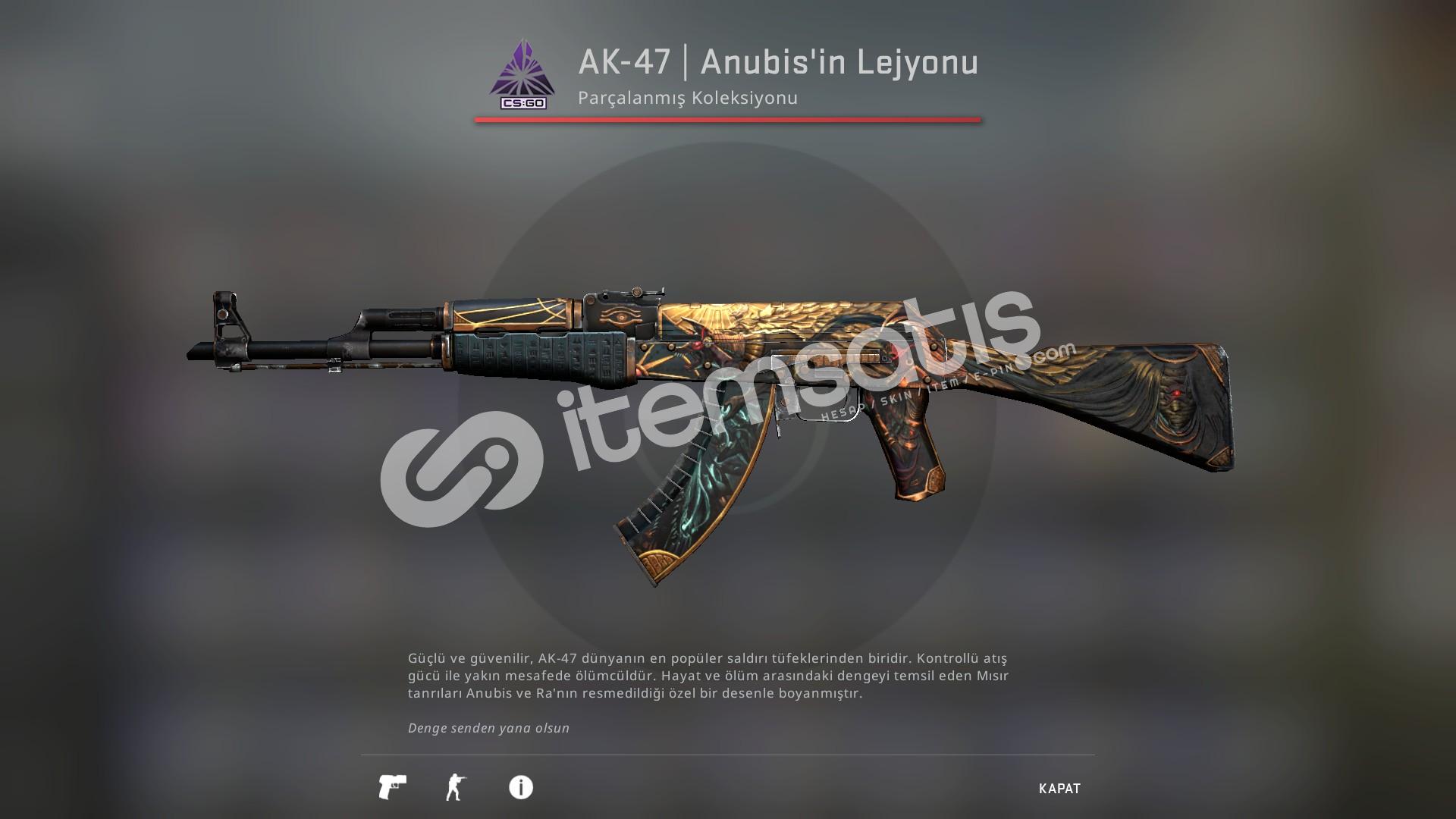 AK-47 | Anubis'in Lejyonu (Görevde Kullanılmış)
