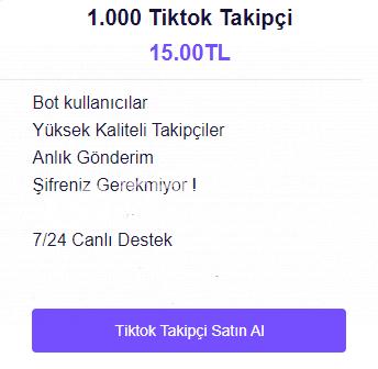 TİKTOK UCUZ 1000 TAKİPÇİ!