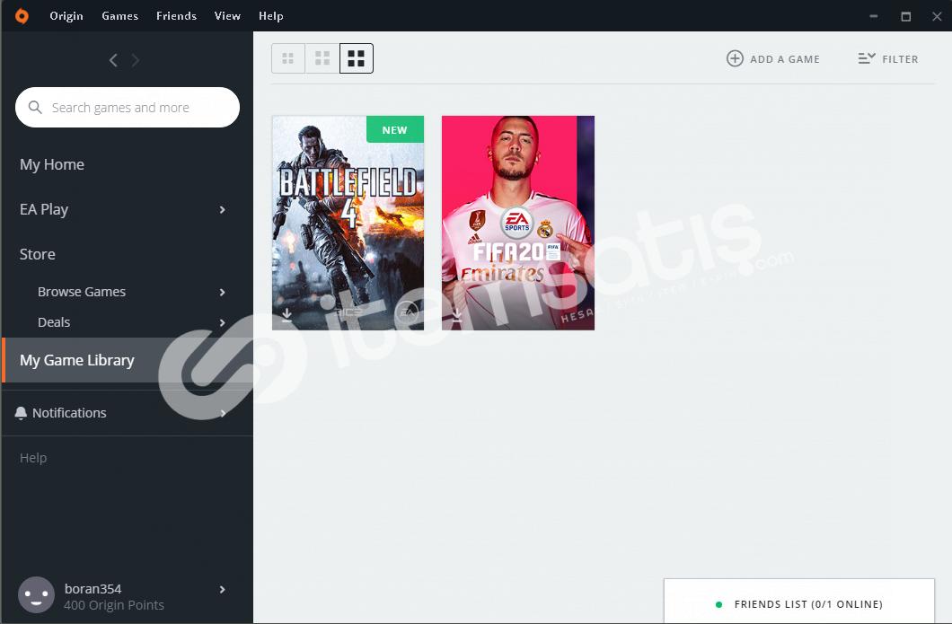 Fifa 20 + Battlefield 4 Origin Hesap