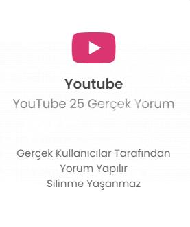 YouTube 25 Farklı Hesap Yorum