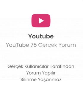 YouTube 75 Farklı Hesap Yorum