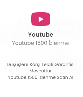 Youtube 1500 İzlenme 25 TL Düşmelere Karşı Telafi!