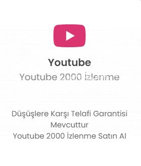 Youtube 2000 İzlenme 32 TL Düşmelere Karşı Telafi!