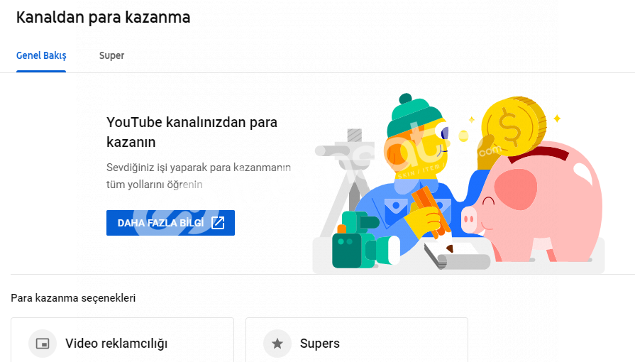 YouTube Para Kazanması Açık Kanal