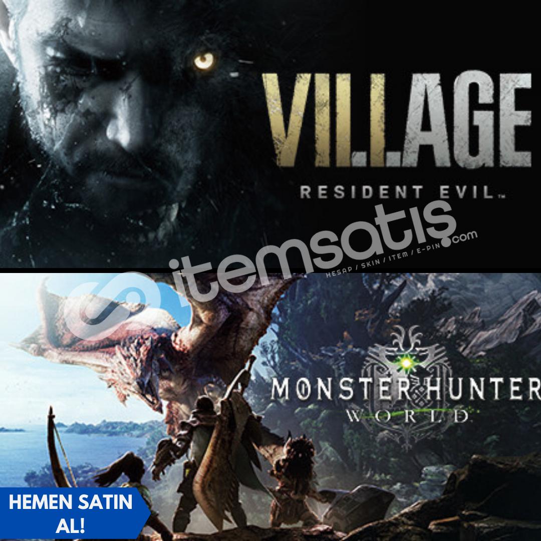 Resident Evil 8 : Village Deluxe + Monster: Hunter World