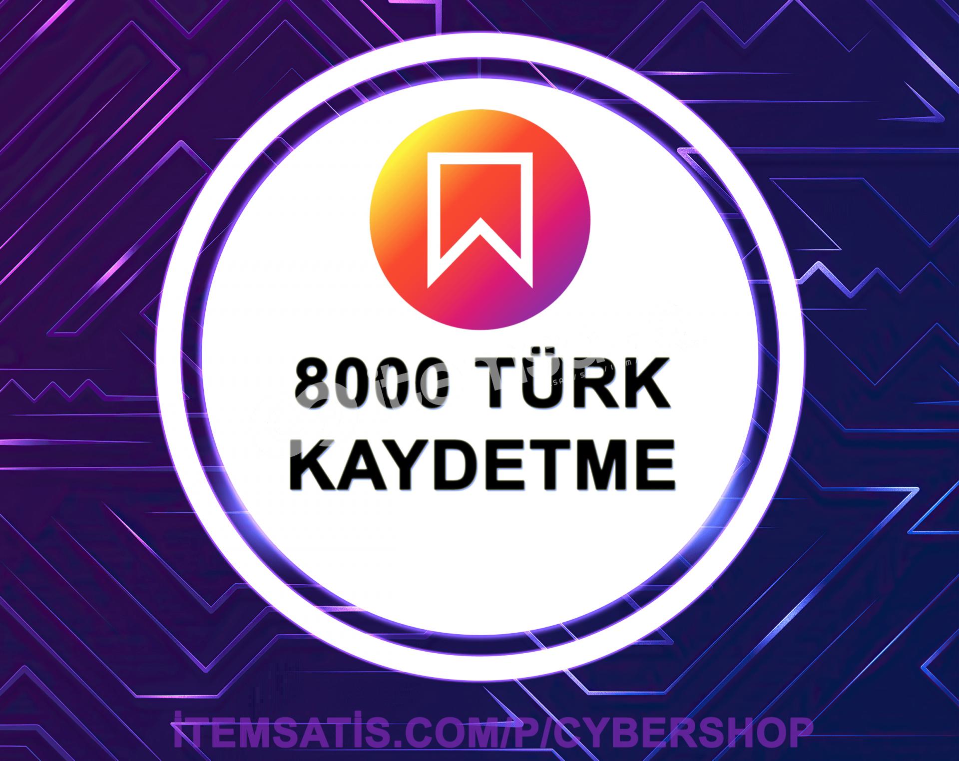 8.000 [TÜRK] Kaydetme Paketi