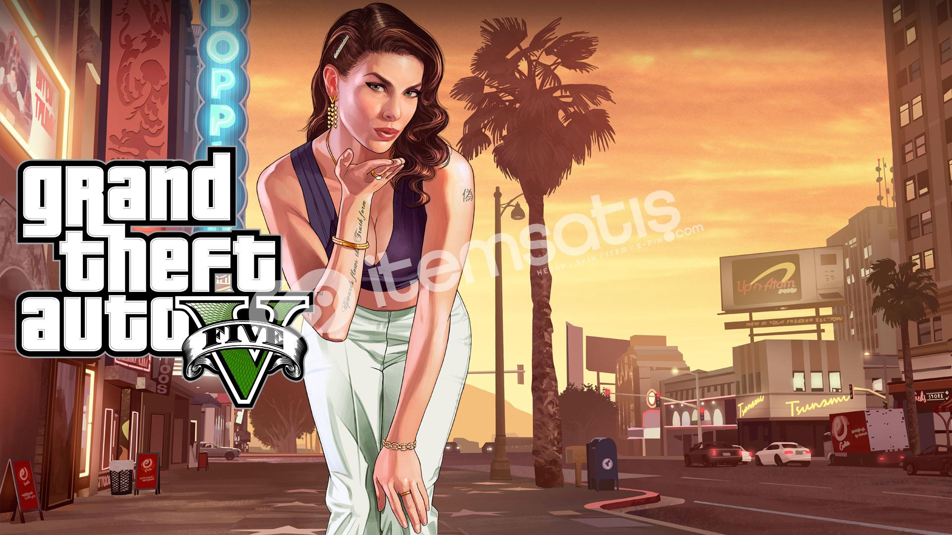 Grand Theft Auto V Social Club hesab online level 100-200 vb
