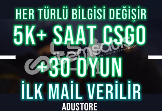 FACEİT +5K SAAT CSGO +30 OYUN İLK MAİL HER BİLGİ DEĞİŞİR
