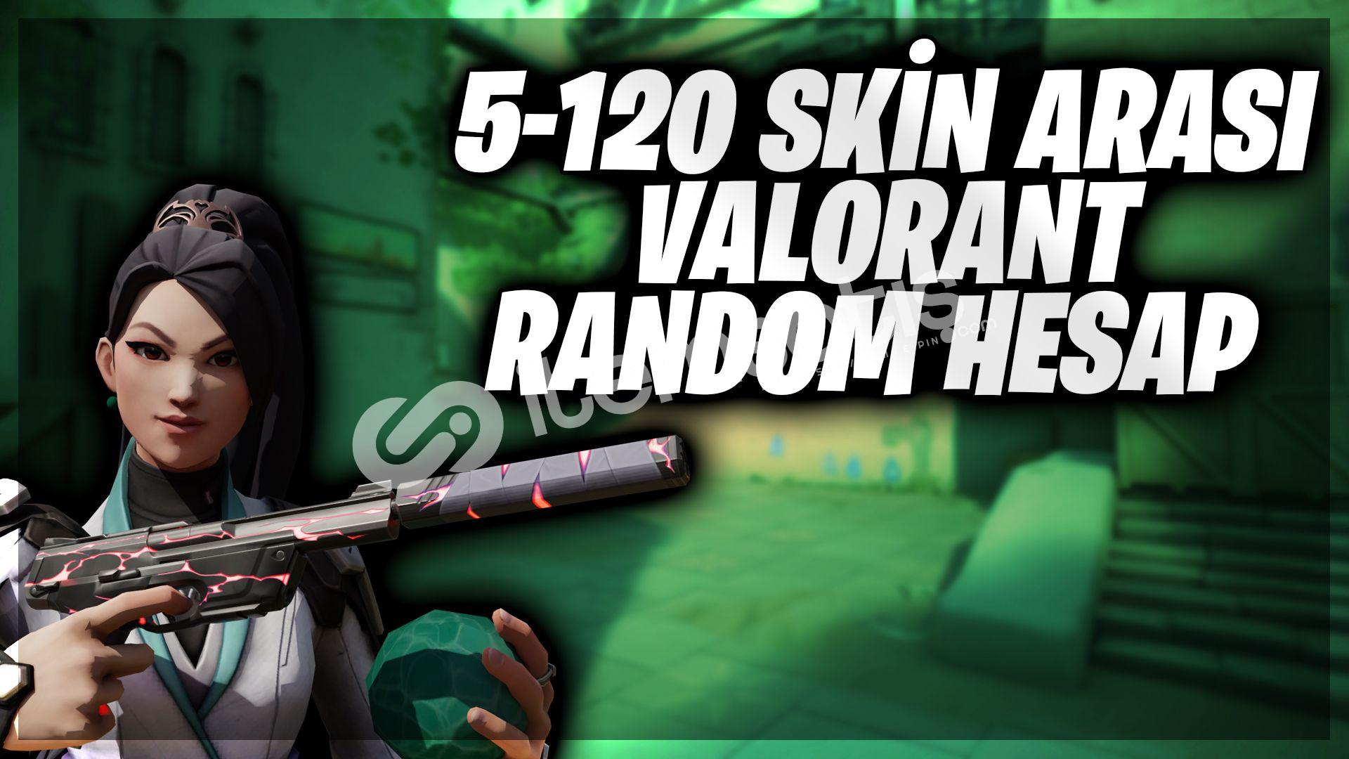 %100 TR 5-120 Random 5 Skin altı İade 1+1 Hediyelii