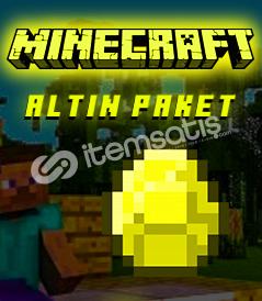 MİNECRAFT ALTIN PAKET