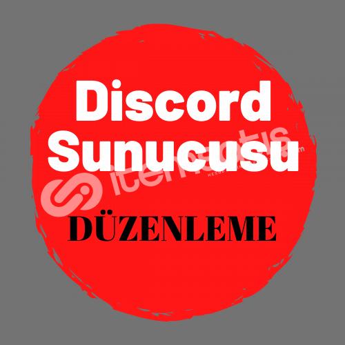 Discord Sunucu Düzenleme
