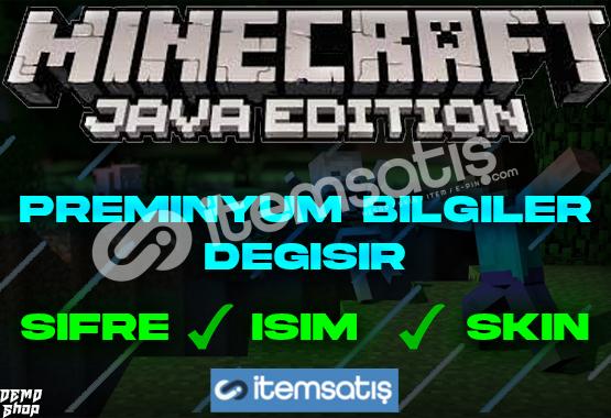 Minecraft Preminyum + Bilgileri Değişir + Hediye