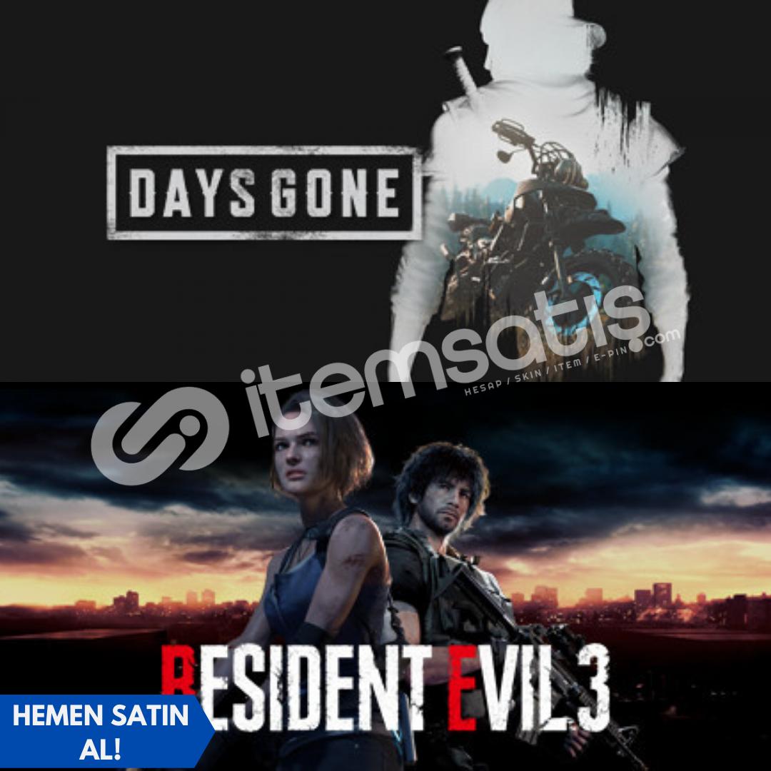 Days Gone + Resident Evil 3 + Garanti!